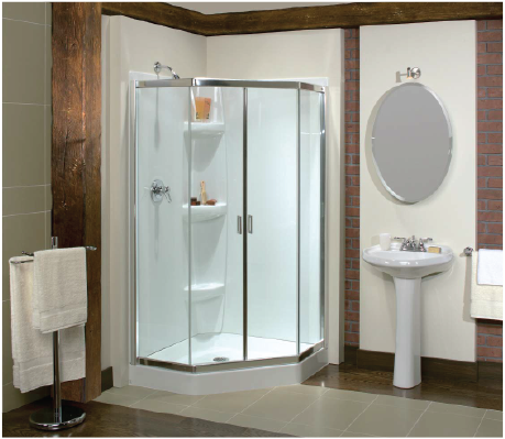 Maax Neo-angle shower (except our bathroom is 1/4 the size shown in the photo)
